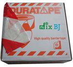 ยูโรเทปสีขาว-แดง สีเหลือ-ดำ ขนาด75มม.x500 ม. (TAPE410)