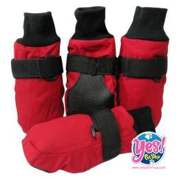 ถุงเท้าสำหรับสุนัขพันธุ์ใหญ่ เบอร์ 11 สีแดง