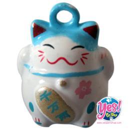 ลูกกระพรวนแมวญี่ปุ่น สีขาว-ฟ้า