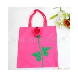 ถุงผ้าร่มพับได้รูปกุหลาบแสนสวย BG-Rose-pink