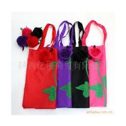 ถุงผ้าร่มพับได้รูปกุหลาบแสนสวย BG-Rose-purple