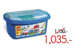 ตัวต่อเลโก้เบสิค บัคเก็ต ขนาดกลาง สีฟ้า - 6166