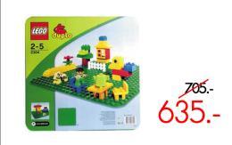 แผ่นรองต่อเลโก้ดูโป้ สีเขียว แบบปุ่มใหญ่ - 2304