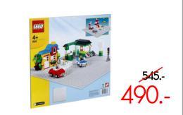 แผ่นรองต่อเลโก้เบสิค สีเทา แบบปุ่มเล็ก - 628