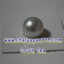 ไข่มุกแท้ SouthSea สีขาว 12 mm.