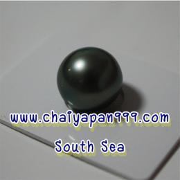 ไข่มุกแท้ SouthSea สีดำ 12 mm.