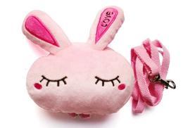 กระเป๋าเป้ หัวตุ๊กตากระต่ายสีชมพู พร้อมสายจูง