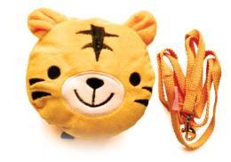 กระเป๋าเป้ หัวตุ๊กตาเสือสีส้ม พร้อมสายจูง