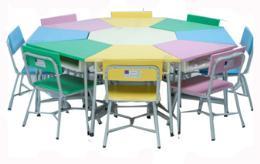 โต๊ะเก้าอี้กิจกรรมกลุ่ม 8 เหลี่ยม 8 ที่นั่ง