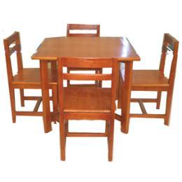 โต๊ะอ่านหนังสือ 4 ที่นั่งพร้อมเก้าอี้