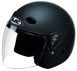 หมวกกันน็อค  HJC JETY TYPE สีเดียว ไซด์ XL สีดำด้าน
