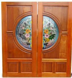 บานประตูติดกระจกสเตนกลาส