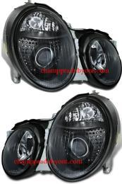 ไฟหน้ารถยนต์ BENZ CLK W208 98-02 ดำ
