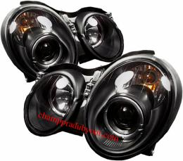 ไฟหน้ารถยนต์ BENZ CLK W208 98-02 ดำ วงแหวน