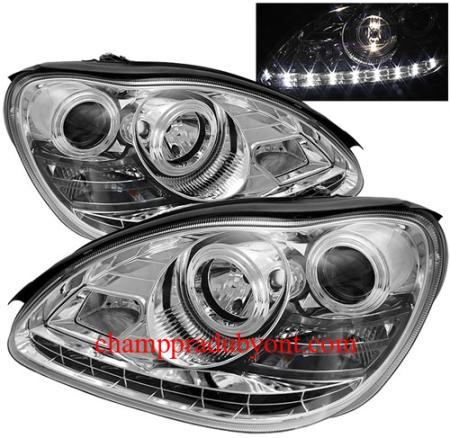 ไฟหน้ารถยนต์ BENZ S-CLASS W220 98-05 ขาว LED ยา