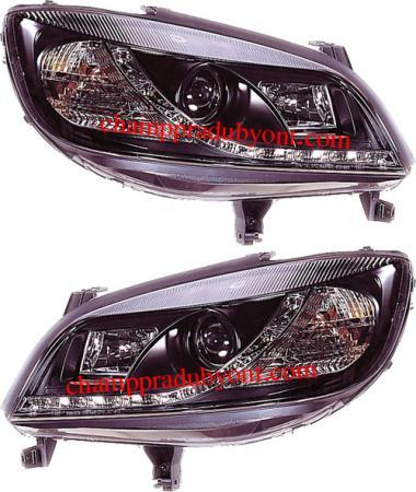 ไฟหน้ารถยนต์ CHEVROLET ZAFIRA 00-06 ดำ LED ยาว