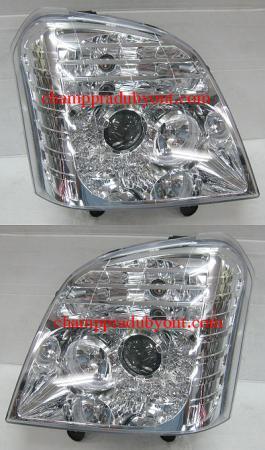 ไฟหน้ารถยนต์ ISUZU D-MAX 02-06 ขาว LED