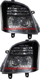 ไฟหน้ารถยนต์ ISUZU D-MAX 02-06 ดำ LED