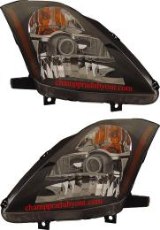 ไฟหน้ารถยนต์ NISSAN 350Z 03-08 ดำ