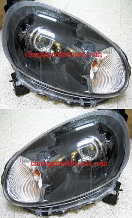 ไฟหน้ารถยนต์ NISSAN MARCH 10-12 ดำ วงแหวน