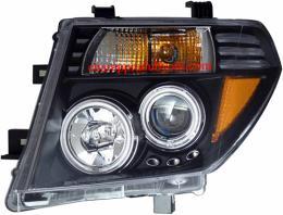 ไฟหน้ารถยนต์ NISSAN NAVARA 07-12 ดำ วงแหวน