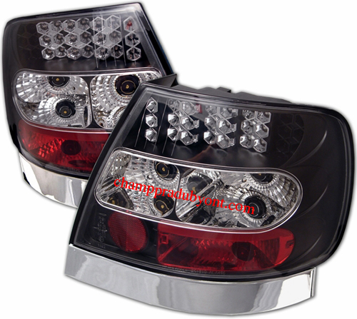 ไฟท้าย AUDI A4 95-00 ดำ LED