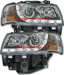 ไฟหน้ารถยนต์ VOLKSWAGEN CARAVELLE T4 97-04 ขาว มุมติด LED ยาว