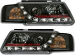 ไฟหน้ารถยนต์ VOLKSWAGEN PASSAT B5 97-01 ดำ มุมติด LED ยาว