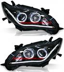 ไฟหน้ารถยนต์  TOYOTA ALTIS 10-13 ดำ วงแหวน LED ยาว (V.2)