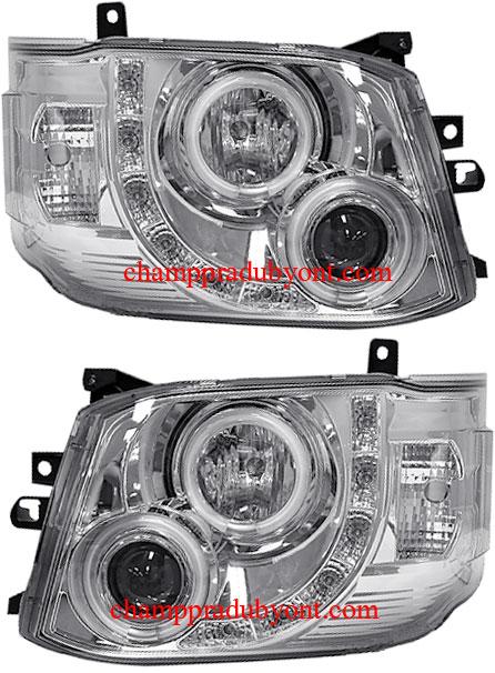 ไฟหน้ารถยนต์  TOYOTA HIACE COMMUTER 11-13 ขาว LED ยาว