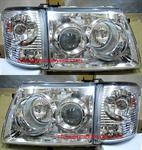 ไฟหน้ารถยนต์  TOYOTA SPORT RIDER D4D 02-04 ขาว พร้อมมุมเพชร