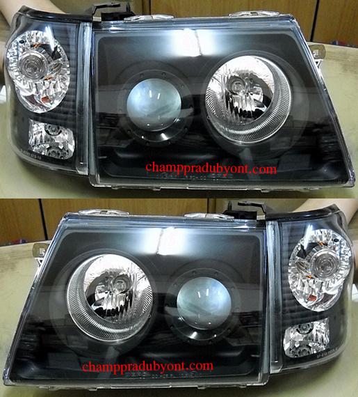 ไฟหน้ารถยนต์  TOYOTA SPORT RIDER D4D 02-04 ดำ พร้อมมุมดำ