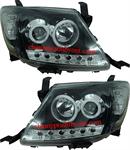 ไฟหน้ารถยนต์  TOYOTA VIGO 04-11 ดำ วงแหวน LED ยาว