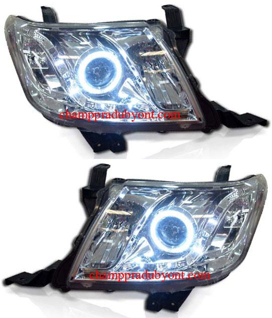 ไฟหน้ารถยนต์  TOYOTA VIGO CHAMP 11-12 ขาว วงแหวน LED ยาว (V.2)