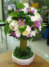 แจกันดอกไม้สด / Flower Vase  PV16
