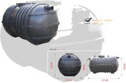 ถังบำบัดน้ำเสีย ขนาด 2000 ลิตร