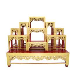 โต๊ะหมู่บูชา โต๊ะหมู่ปิดทอง 9x10''  ปิดทอง 100%