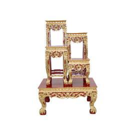 โต๊ะหมู่บูชา โต๊ะหมู่ 4x10''  ปิดทองร่องชา ติ