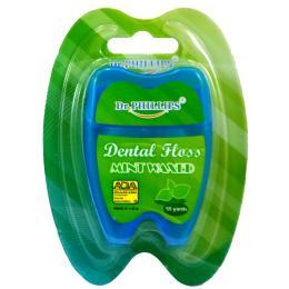 ไหมขัดฟัน 55 หลารูปฟัน กลิ่นมิ้นท์ (สีน้ำเงิน)