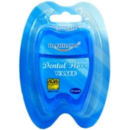 ไหมขัดฟัน 55 หลารูปฟัน (สีน้ำเงิน)