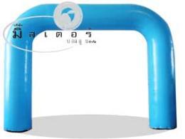 ซุ้มบอลลูนสี่เหลี่ยมพองลม -สีฟ้า