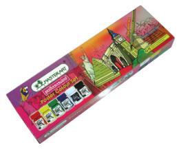 สีโปสเตอร์กล่องกระดาษ MasterArt #6สี+พู่กัน