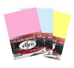 กระดาษถ่ายเอกสารสี Elfen A4 80gm