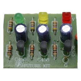 วงจรไฟกระพริบ 3จังหวะ LED 3ดวง