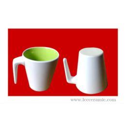แก้วเซรามิค ข้างในเขียว 00159