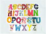 ตัวอักษรไม้แม่เหล็ก A-Z ใหญ่ W-ID-C4-1