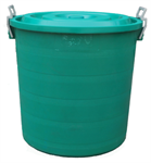 ถังขยะกลมฝาเรียบไม่มีล้อ P100-01/B