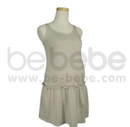เสื้อคลุมท้อง คอกลมไม่มีแขน ผ้า Organic Cotton สีเทา