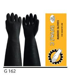 ถุงมือยางสีดำ G162