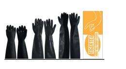 ถุงมือยางสีดำ G222-216-218-225